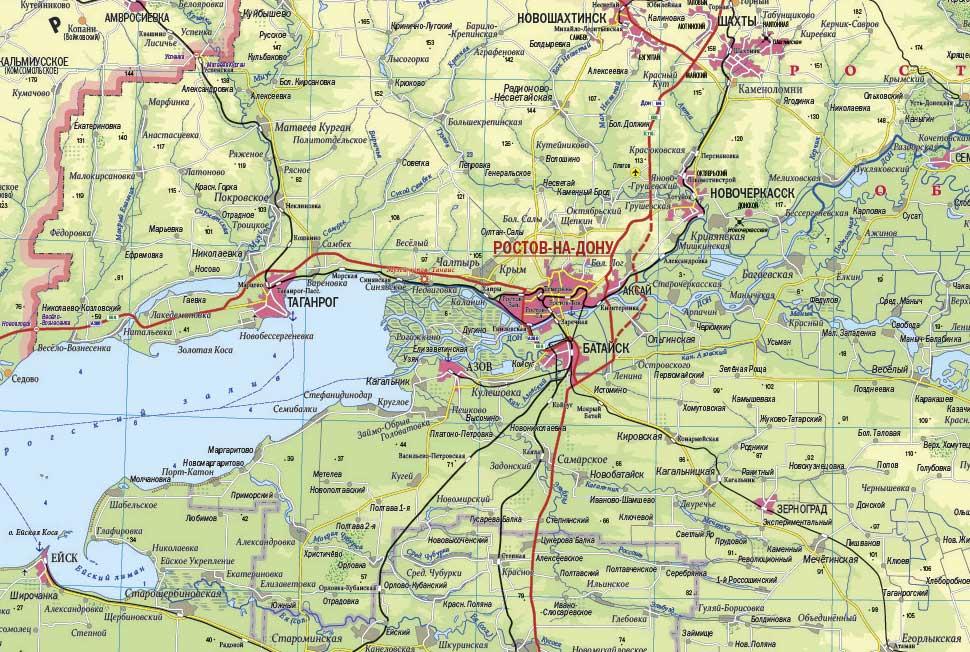 Создана общегеографическая карта «Южный федеральный округ» масштаба 1:600 000